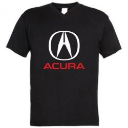 Мужская футболка  с V-образным вырезом Acura - FatLine