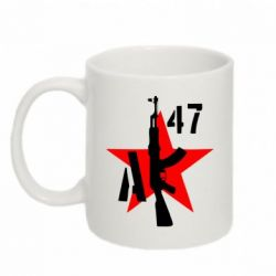 Кружка 320ml AK 47 star