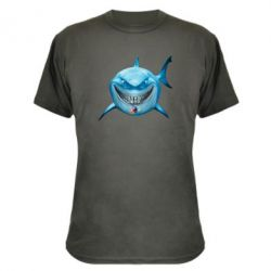 Камуфляжная футболка Акула улыбается