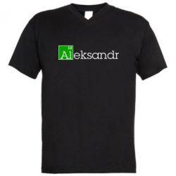Мужская футболка  с V-образным вырезом Alexandr - FatLine