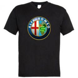 Мужская футболка  с V-образным вырезом ALFA ROMEO - FatLine