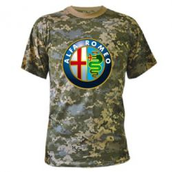 Камуфляжная футболка ALFA ROMEO - FatLine