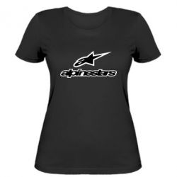 Женская футболка Alpinestar Logo - FatLine
