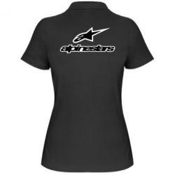 Женская футболка поло Alpinestar Logo - FatLine