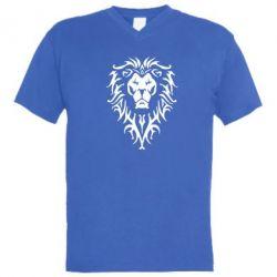 Мужская футболка  с V-образным вырезом Альянс - FatLine