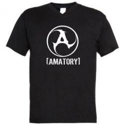 Мужская футболка  с V-образным вырезом Amatory - FatLine