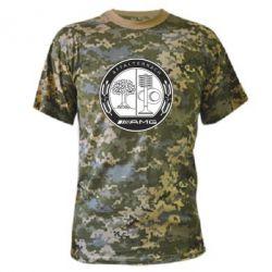 Камуфляжная футболка AMG - FatLine