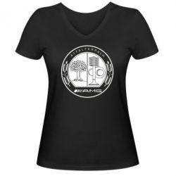 Женская футболка с V-образным вырезом AMG - FatLine