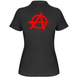 Женская футболка поло Anarchy - FatLine
