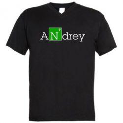 Мужская футболка  с V-образным вырезом Andrey - FatLine