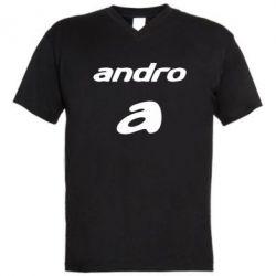 Мужская футболка  с V-образным вырезом Andro - FatLine