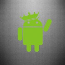 Наклейка Android King - FatLine