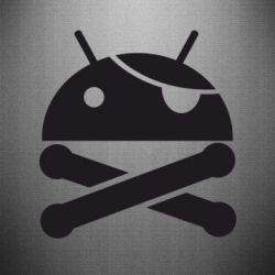 Наклейка Android Pirate