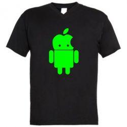 Мужская футболка  с V-образным вырезом Apdroid - FatLine