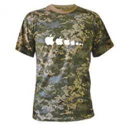 Камуфляжная футболка Apple Evolution - FatLine