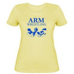 Женская футболка Arm Wrestling - FatLine