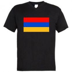 Мужская футболка  с V-образным вырезом Армения - FatLine