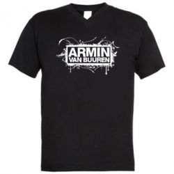 Мужская футболка  с V-образным вырезом Armin Van Buuren - FatLine