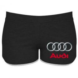 Женские шорты Audi 3D Logo - FatLine