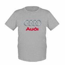 Детская футболка Audi 3D Logo - FatLine