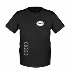 Детская футболка Audi Logo - FatLine