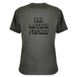Камуфляжная футболка Bad Mother F*cker - FatLine
