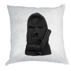Подушка Балаклава с пистолетом - FatLine