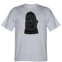 Мужская футболка Балаклава с пистолетом - FatLine