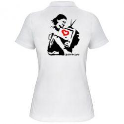 Женская футболка поло Bancsy TV - FatLine