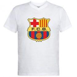 Мужская футболка  с V-образным вырезом Barcelona - FatLine