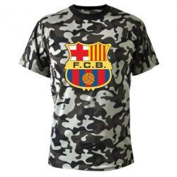 Камуфляжная футболка Barcelona - FatLine