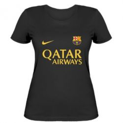 Женская футболка Барселона - FatLine