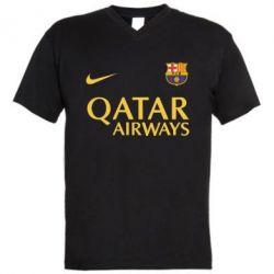 Мужская футболка  с V-образным вырезом Барселона - FatLine