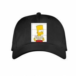 Детская кепка Барт в тюряге - FatLine