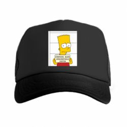 Кепка-тракер Барт в тюряге - FatLine