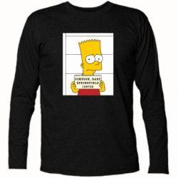 Футболка с длинным рукавом Барт в тюряге - FatLine