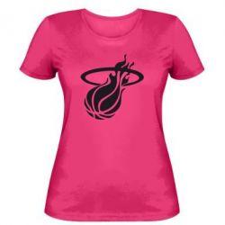 Женская футболка Баскетбольный мяч в кольце - FatLine