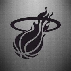 Наклейка Баскетбольный мяч в кольце - FatLine