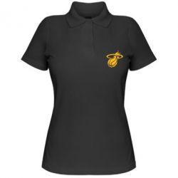 Женская футболка поло Баскетбольный мяч в кольце - FatLine