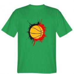 Мужская футболка Баскетбольный мяч - FatLine