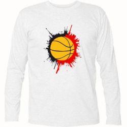 Футболка с длинным рукавом Баскетбольный мяч - FatLine
