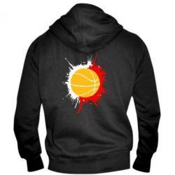 Мужская толстовка на молнии Баскетбольный мяч - FatLine