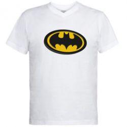 Мужская футболка  с V-образным вырезом Batman 3D - FatLine