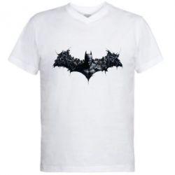 Мужская футболка  с V-образным вырезом Batman Arkham Asylum - FatLine