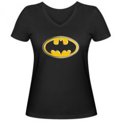 ������� �������� � V-�������� ������� Batman Gold Logo - FatLine