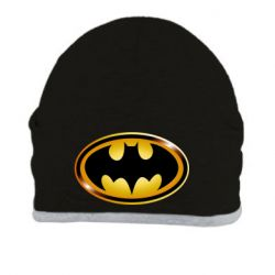 Шапка Batman logo Gold - FatLine