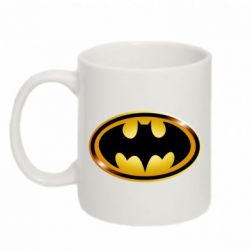 Кружка 320ml Batman logo Gold