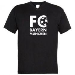 Мужская футболка  с V-образным вырезом Бавария Мюнхен