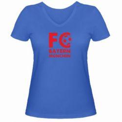 Женская футболка с V-образным вырезом Бавария Мюнхен