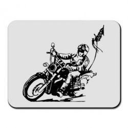 Коврик для мыши Байкер на мотоцикле - FatLine